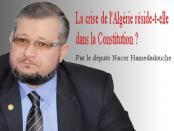 Nacer Hamedadouche la crise en Algérie réside--t-elle dans la constitution